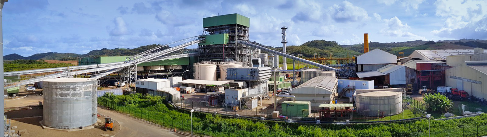 Construction of the first all-biomass power plant in Martinique